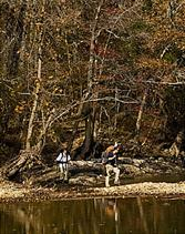hikers along the old buffalo river trail